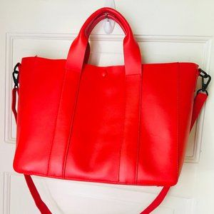 Gap Red Leather Tote Crossbody